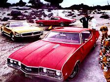 1968 Oldsmobile 442/Cutlass/Toronado Print Ad-poster/photo/sign/art- Holiday/S/69