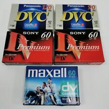 Sony Maxwell Panasonic Mini DV Digital Video Cassette Camcorder Bundle 251077