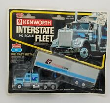ROAD CHAMPS Interstate Transcon DIECAST KENWORTH TRACTOR TRAILER Truck HO 1/87