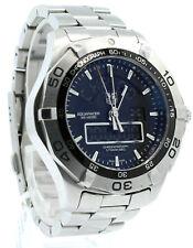 TAG HEUER CAF1010-0 Aquaracer Chronotimer Digital Cuarzo Reloj S.S. 43MM