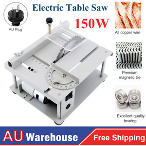 Electric Table Saw Angle Adjustment Cutting Tool Acrylic Plastic Wood Cutting AU