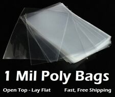 Clear Plastic Bags 100 200 300 500 1000 Flat Open Top Poly Baggies FDA 1Mil