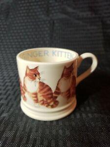 Emma Bridgewater Cats And Dogs Ginger Kitten Baby Mug Collectible England EUC