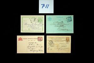 DAW Dutch Indies  Postal History  Postal Stationery Collection 2 sans Lot 711
