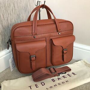 TED BAKER FORSEE TAN LEATHER DOCUMENT FOLIO BAG RETAIL BNWT
