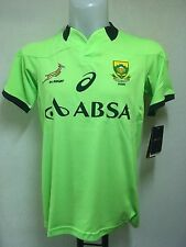 SOUTH AFRICA SPRINGBOKS RUGBY GREEN TRAINING JERSEY BY ASICS ADULTS XL