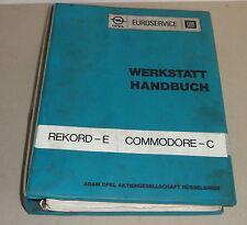 Manual de Taller Opel Rekord E + Commodore C de 1977-1982