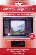 1x FENSTER FLIEGENGITTER FLIEGENNETZ 130 x 150 cm schwarz Moskito Insekten Netz