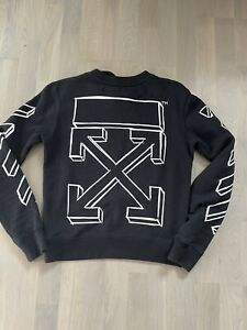 Off White men sweatshirt sweater jumper top size shown in photos by tape measure