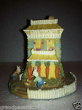 "14 Carrot Inn: Hotel Building (~N scale) with Bunny Village Rabbits Details 3""Ta"