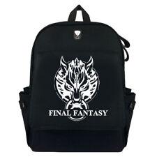 Anime Final Fantasy Student School Backpack Canvas Shoulder Messenger Bag