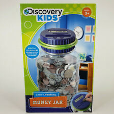 DISCOVERY KIDS COIN-COUNTING MONEY JAR WITH DIGITAL LCD DISPLAY FOR AGES 3+