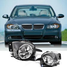 For BMW 2005-2008 E90 E91 Sedan Clear Fog Lights Driving Bumper Lamps No Bulbs