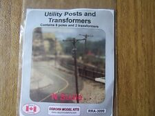 Osborn Model Kits N Scale Utilty Posts and Transformers  -3099 Bob The Train Guy