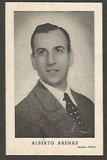 Photo Alberto Arenas Argentinian Tango Singer Original Signed