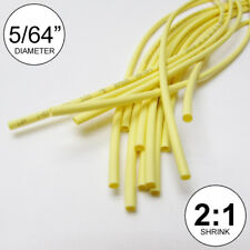 "5/64"" ID Yellow Heat Shrink Tube 2:1 ratio polyolefin (25 ft) inch/feet/to 2mm"