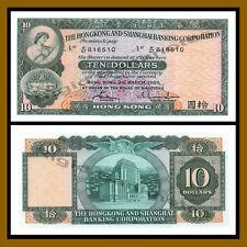 Hong Kong 10 Dollars, 1983 P-182j HSBC Unc