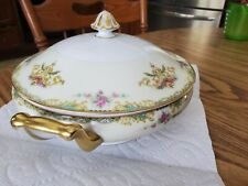 Noritake Gloria Covered Casserole Bowl 1930s Floral Pattern Morimura Japan!