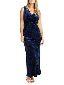 NEW Ladies Womens Studio 8 Phase eight KATIE EMPIRE MAXI DRESS Size 12-26 NAVY