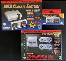 Nintendo NES Classic & SNES Classic Edition Bundle w/ Controller - Brand New