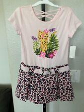 NWT Toddler Girls TOUGHSKINS Pink Hearts SS Sweater Tunic Shirt size 4T