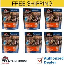 Mountain House Freeze Dried 6 Food Pouches -Italian Style Pepper Steak Free Ship