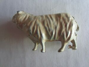 Vintage Lead Sheep 1 3/4 Inches Long and 1 Inch High