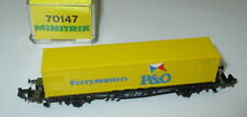 "Minitrix 70147 Containertragwagen   ""P & O Ferrymasters""   NS > Neuw/OVP"
