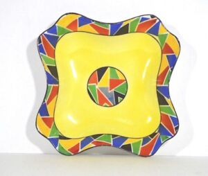 Vintage Royal Rudolstadt Beyer & Bock Stankowski Art Deco Ceramic Dish Tray Bowl