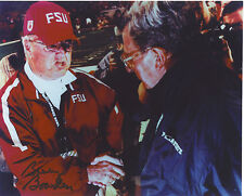 BOBBY BOWDEN FLORIDA STATE SEMINOLES AUTOGRAPHED SIGNED 8X10 WITH JOE PATERNO
