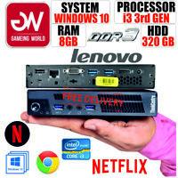 GENUINE POWERFUL LENOVO THINKCENTRE M92 USFF i3 3rd 8GB 320GB HOT SELLER!