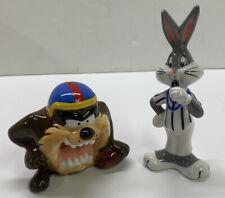 Bugs Bunny /& Taz Salt Pepper Shakers Ceramic Magnetic Looney Tunes, 13876