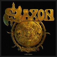 OFFICIAL LICENSED - SAXON - SACRIFICE SEW-ON PATCH METAL