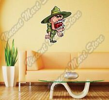 "Army Drill Sergeant Military Soldier Wall Sticker Room Interior Decor 18""X25"""
