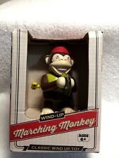New Classic Mechanical Wind Up Marching Waling Toy Monkey + Playing Cymbals