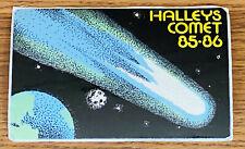 1985 1986 HALLEY'S COMET GLOW IN THE DARK POSTICK STICKER POSTCARD BLACK Edmond