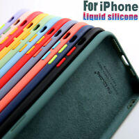 Liquid Silicone Case For iPhone 12 Pro Max Mini 11 7 8 Plus SE X XR X Soft Cover