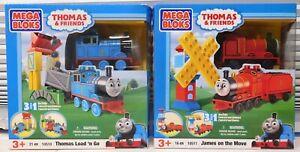 2 sets THOMAS & Friends * JAMES 10511 & Thomas 10510 Mega Bloks Train NEW RARE