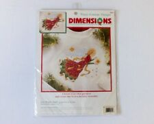 Dimensions Holiday Counted Cross Stitch Waste Canvas Star Bright Angel USA