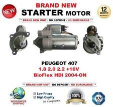 FOR PEUGEOT 407 1.8 2.0 2.2 +16V BioFlex HDi 2004-ON STARTER MOTOR 1.7kW 13Teeth
