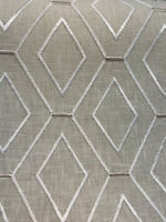 Waverly Diamond Duo Embroidered Parchment Fabric by the yard