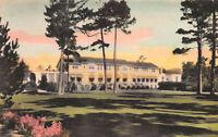 Del Monte Lodge, Pebble Beach, California, Early Hand Colored Postcard, Unused
