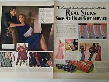 1940 Real silk Hosiery stockings legs shop at home service 2 page ad