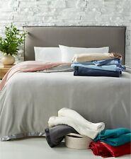 Martha Stewart Fleece Blanket King Gray Easy Care Soft