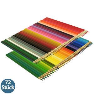 72er Set Buntstifte Malstifte Zeichenstifte in 72 brillianten Farben