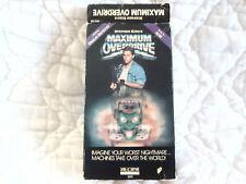 MAXIMUM OVERDRIVE VHS STEPHEN KING 80'S HORROR AC/DC EMILIO ESTEVEZ PAT HINGLE