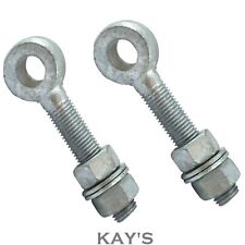 ADJUSTABLE GATE EYE BOLTS + NUTS & WASHERS PACKS OF 2 GALVANISED M12 M16 M19 M22