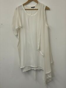 Ann Demeulemeester Silk Ivory Dress. Size 40 UK 12. In Perfect Condition!