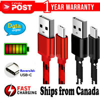 Fast Charging USB Type C Cable For Samsung Galaxy S20 S10 S9 S8 Plus Note 10 20