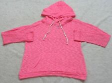 Miss Chievous Pink Hooded Sweatshirt Womens Woman's Top Solid Large Poly Spandex